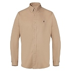Polo Ralph Laure Khaki Button Down Shirt, braun